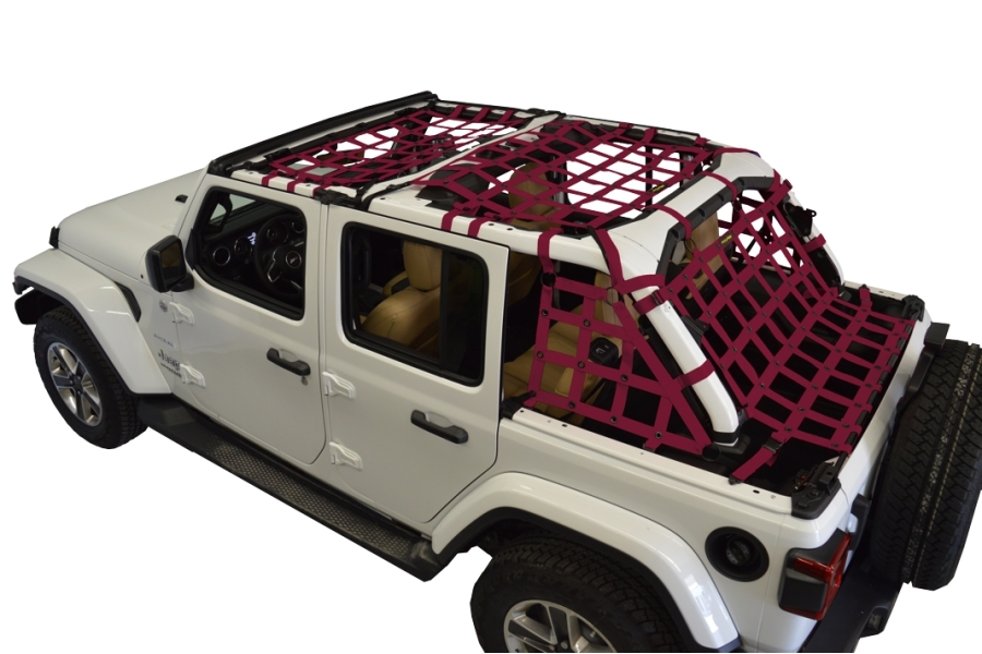Dirty Dog 4x4 5pc Cargo Side Netting Kit, Maroon - JL 4Dr