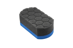 Chemical Guys Easy Grip Hex-Logic Applicator Pad, 1.75in x 2.5in x 4.625in - Blue