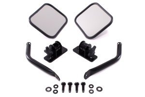 Rugged Ridge Quick Release Mirrors Black ( Part Number: 11025.12)