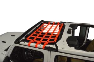 Dirty Dog 4x4 Front Seat Netting, Orange - JL 4Dr