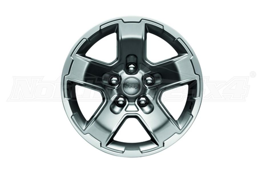 Mopar Cast Aluminum Wheel 17x8.5 5x5 Satin Carbon - JT/JL/JK