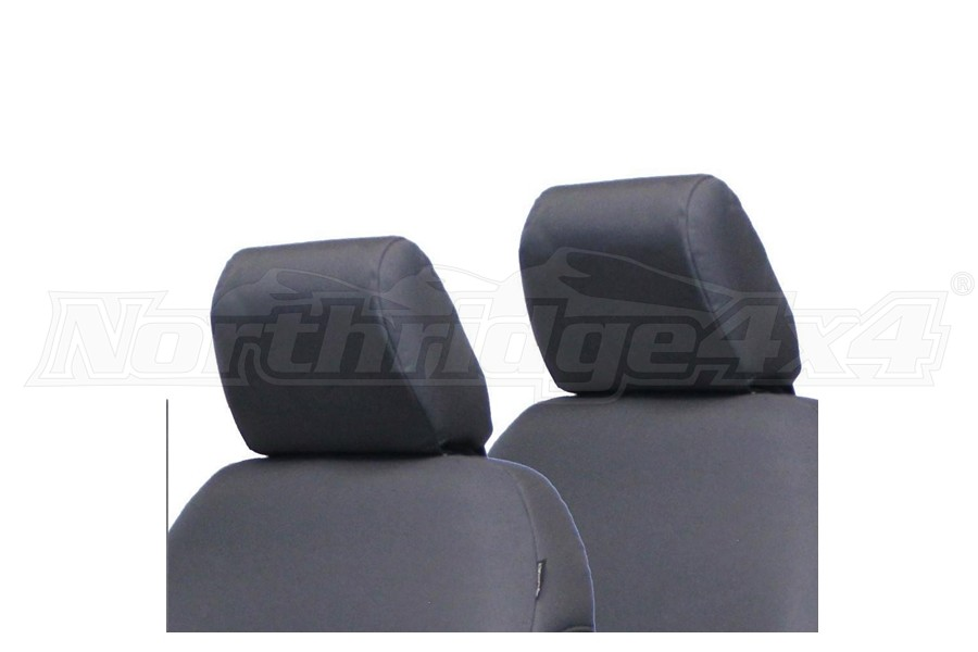 Bartact Front Headrest Covers Pair, Grey - JL