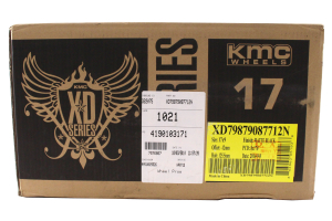 XD Series Addict Matte Black 17x9 8x170