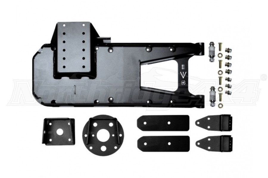 EVO Manufacturing HD Hinge Tire Carrier, Black (Part Number:3032B)
