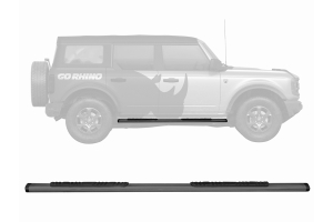 Go Rhino 5in OE Xtreme Low Profile Side Step Kit - Black  - Ford Bronco 4Dr