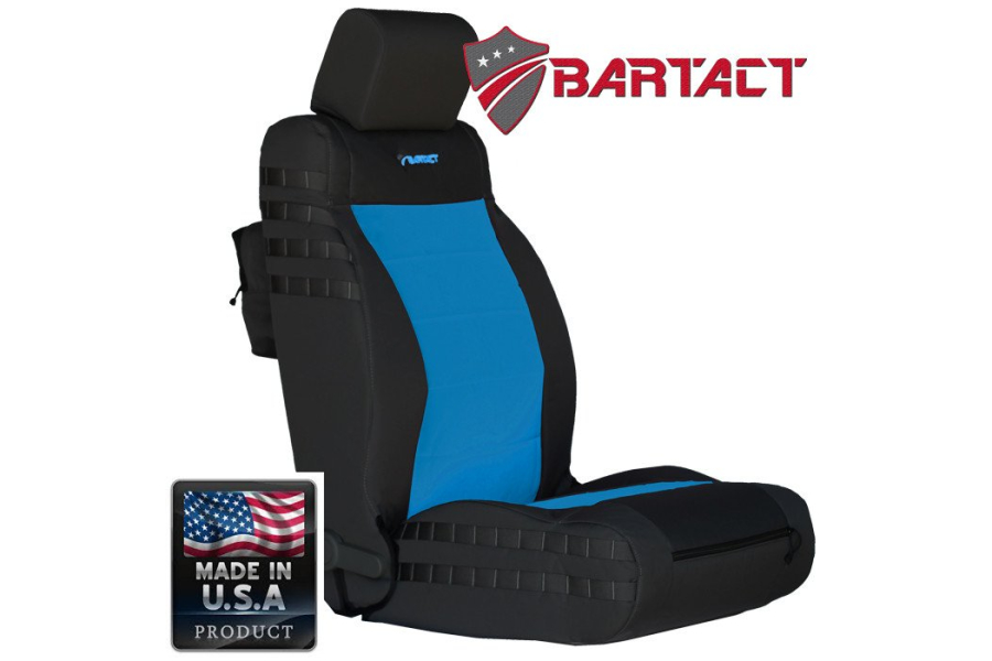 BARTACT Front Seat Cover Black/Blue