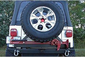 Rock Hard 4x4 Patriot Series Rear Bumper w/Tire Carrier Black - LJ/TJ/YJ/CJ