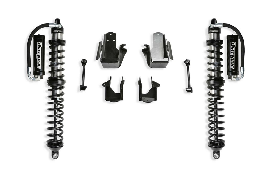 FabTech 3in Crawler Coilover Conversion Kit w/ Front RESI Coilovers - JT