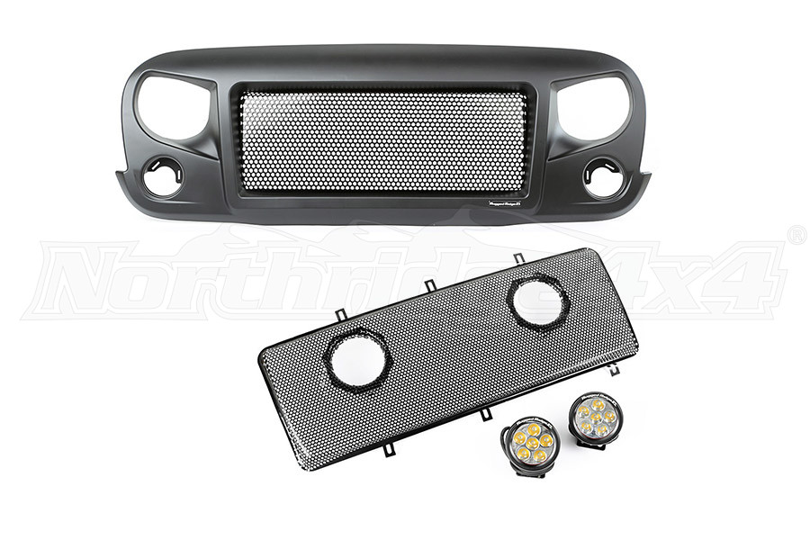 Rugged Ridge Spartan Grille Round LED Insert Kit (Part Number:12034.35)