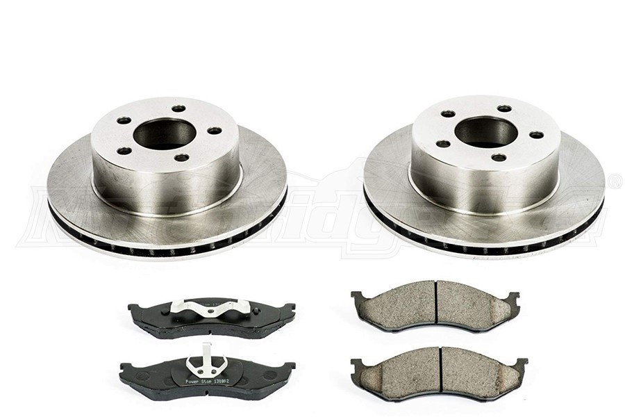 Power Stop Autospecialty OE Replacement Brake Kit, Front  - TJ/YJ 1990-99