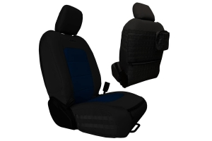 Bartact Tactical Series Front Seat Covers - Black/Navy - JT