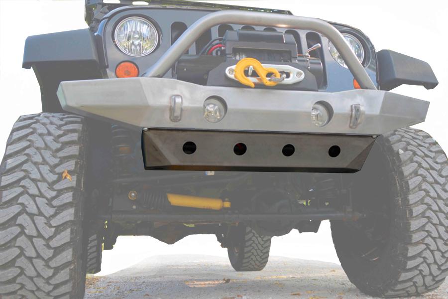 LOD Destroyer Front Bumper Skid Plate Black Powder Coated - JK
