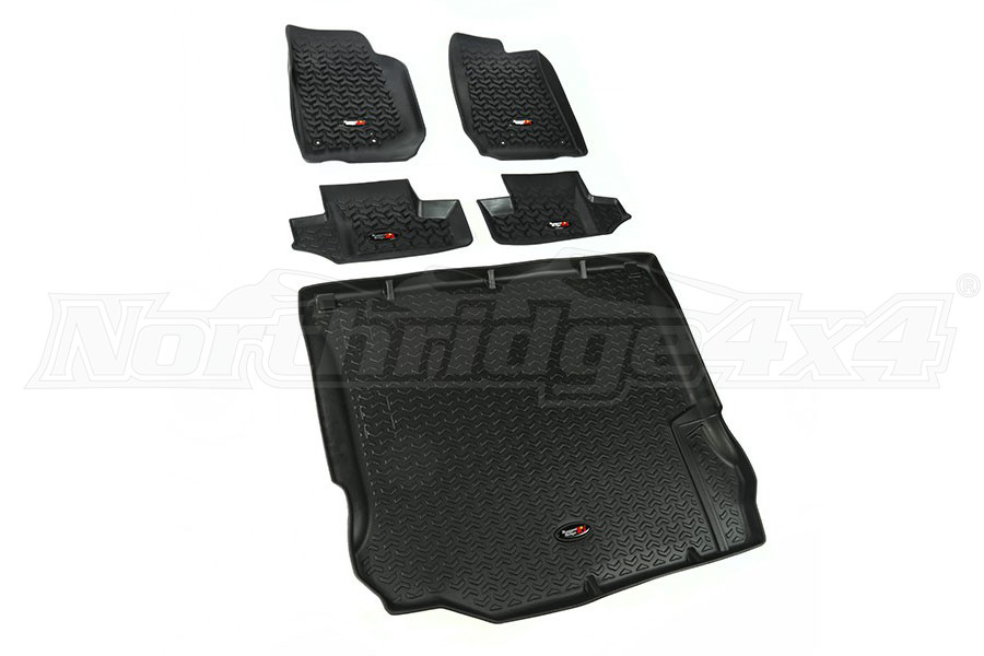 Rugged Ridge Floor Liner Kit, Black - JK 2DR 2011+