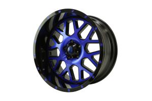 XD Series GRENADE Wheel Satin Black w/Blue 20x10 5x5 - JT/JK/JL