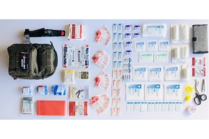 Outer Limit Supply Rover Sling First Aid Kit - Olive, Red Stitching