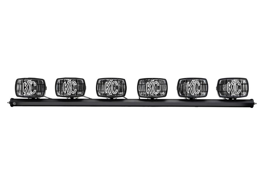 KC HiLites 50in Xross Bar w/Gravity G46 LED 6-Light Kit - JK