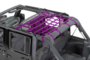 Dirty Dog 4x4 Rear Seat Netting Purple  (Part Number: )