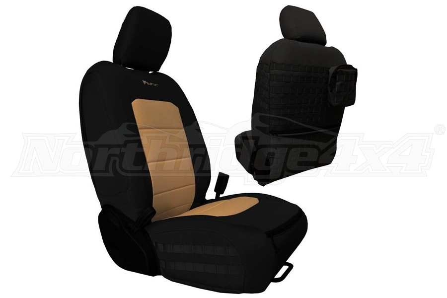 Bartact Tactical Series Front Seat Covers - Black/Khaki - JT