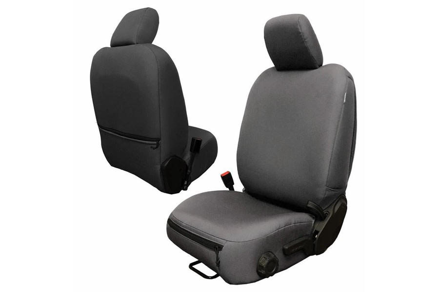 Bartact Baseline Performance Front Seat Covers - Graphite, No Headrest Cover - JT