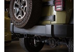 aFe Power Rebel Series 2.5in Axle-Back Exhaust System - Black - JK 3.6L/3.8L