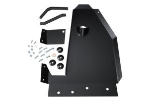 Rock Hard 4x4 4x4 Oil Pan / Transmission / Catalytic Converter Skid Black - JK