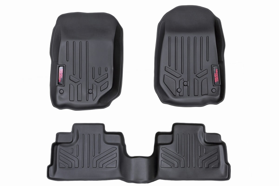 Rough Country Heavy Duty Floor Mats Front and Rear Combo (Part Number:M-60712)