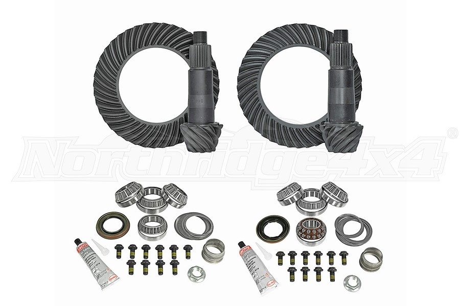 Yukon Complete D44 Front and Rear Ring and Pinion Kit - 4.88  - JT/JL Rubicon
