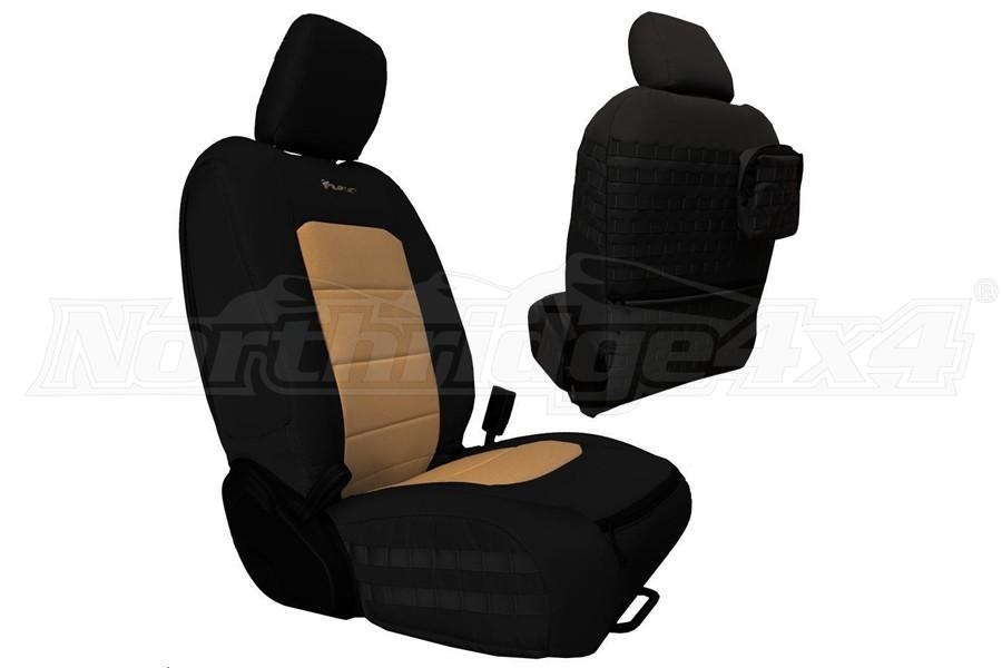 Bartact Tactical Front Seat Covers Black/Khaki (Part Number:JLTC2018FPBK)