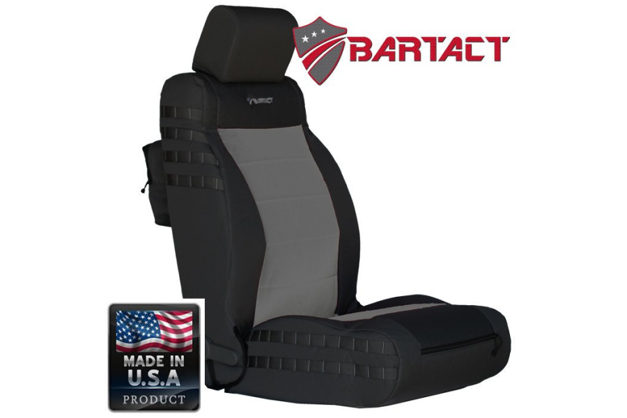 Bartact Tactical Series Front Seat Covers - Black/Graphite, SRS-Compliant - JK 2011-12