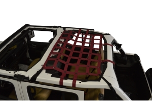 Dirty Dog 4x4 Rear Seat Netting, Maroon - JL 4Dr