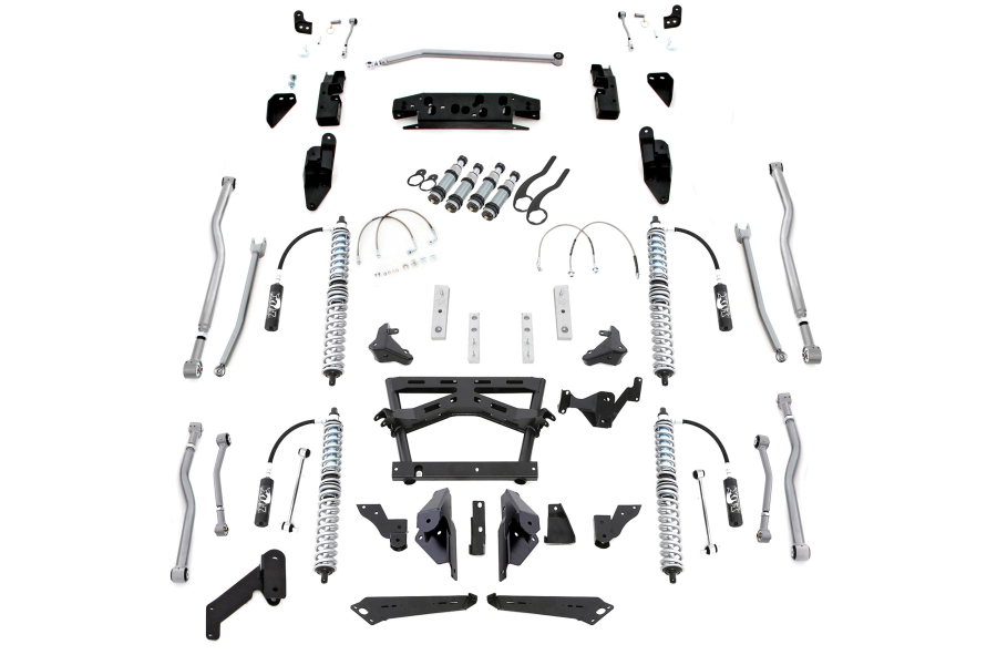 Rubicon Express ExtremeDuty 4Link Long Arm Coilover Kit w/ Airbumps - JK 4dr