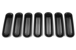 Rugged Ridge Outer Rings w/Billet Grill Inserts Black ( Part Number: 11401.30)