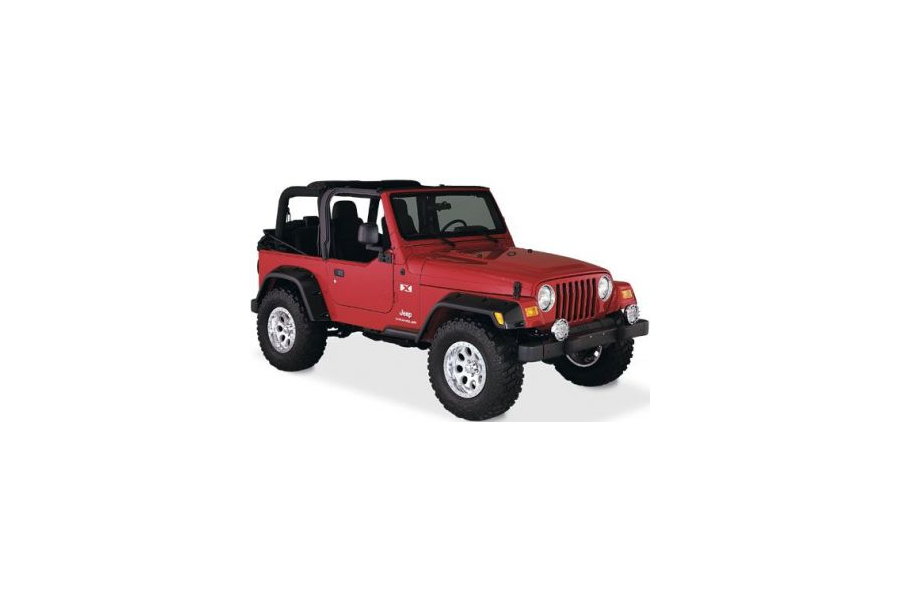 Bushwacker 6in Pocket Style Fender Flares - TJ/LJ