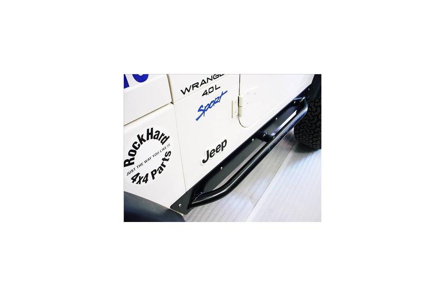 Rock Hard 4x4 Rocker Sliders Black (Part Number:RH-3001-UCS)