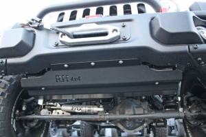 Rock Hard 4x4 Front Bumper Skid Plate for Steel - JK 2013-18