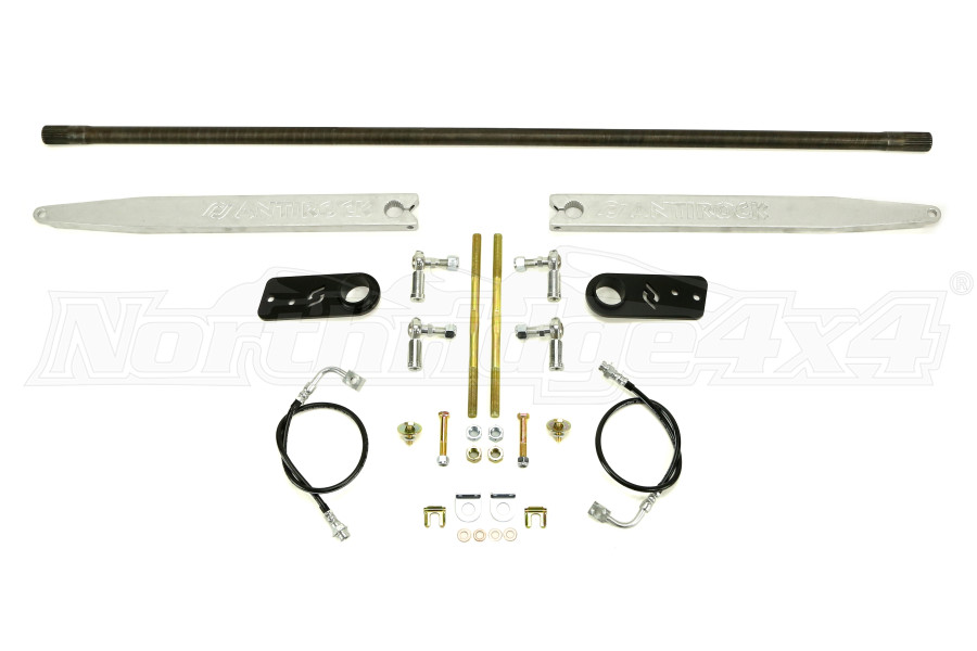 RockJock Antirock Sway Bar Kit w/Aluminum Arms Rear  - JK