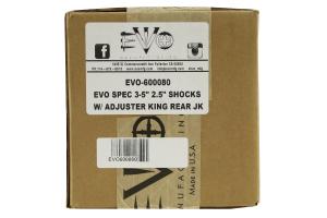 EVO Manufacturing Spec King Driver/Passenger Shocks Rear 3-5in Lift   - JK