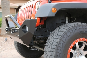 Rock Hard 4x4 Patriot Series Mid Width Front Bumper w Lowered Winch Plate Aluminum (Part Number: )