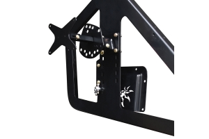 Poison Spyder Frame Mounted Tire Carrier w/ Camera Mount - Black - JL