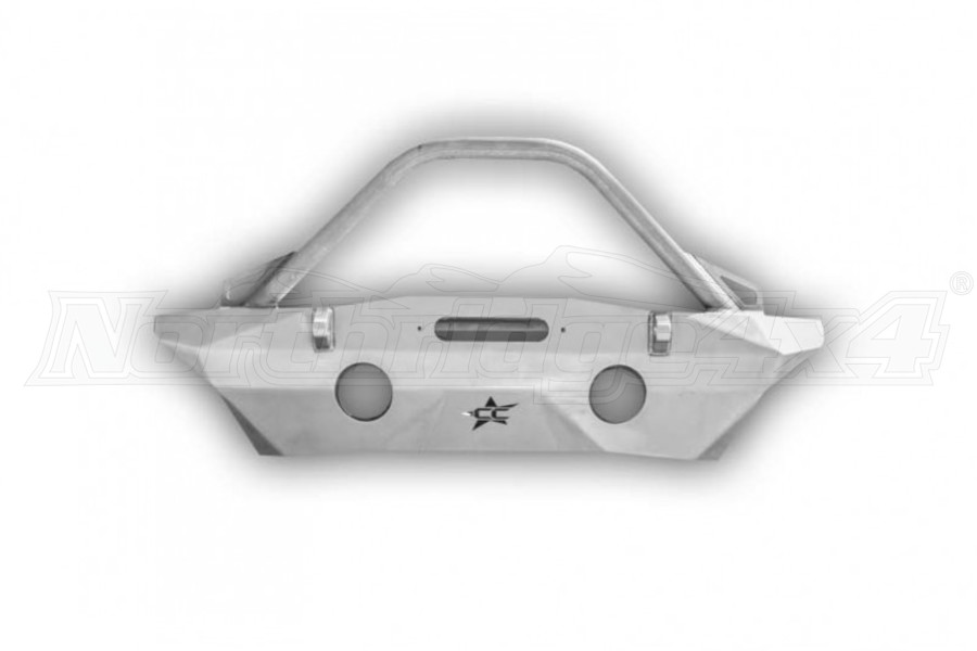 Crawler Conceptz Ultra Series Mid Width Front Bumper w/Recessed Winch Mount, Bar and Tabs Bare (Part Number:US-MWRW-002)