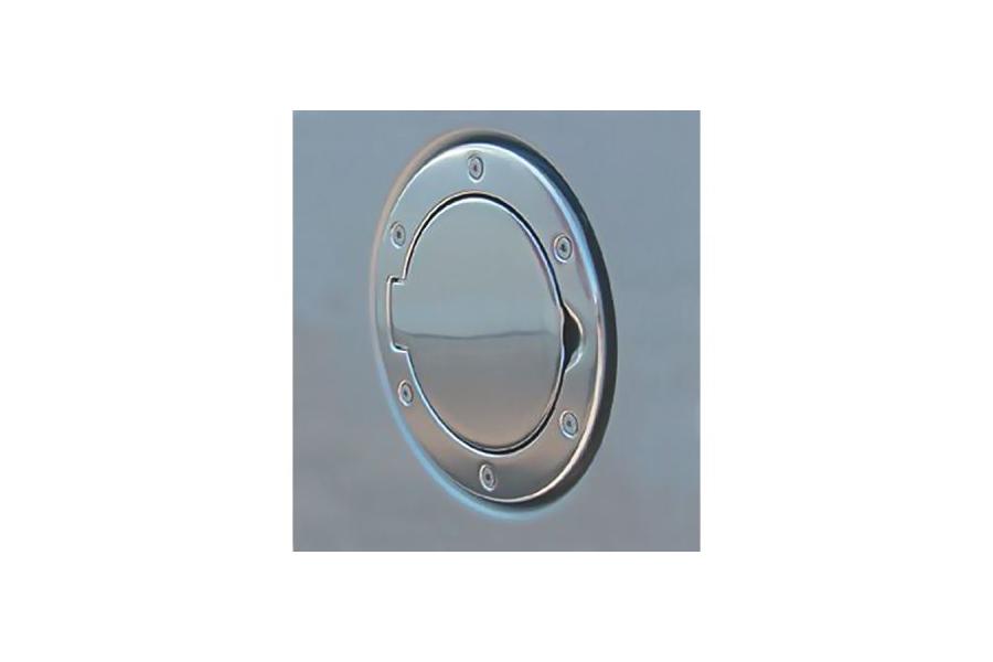 Rugged Ridge Non-Locking Polished Aluminum Gas Cap Door (Part Number:11425.01)