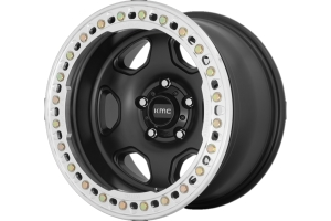 KMC Wheels K233 HEX Series Beadlock Wheel, 17x9 5x5 - Satin Black - JT/JL/JK