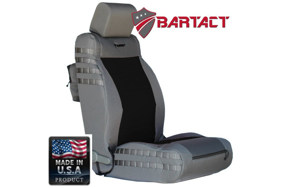 Bartact Front Seat Cover Non Air Bag Compliant Graphite Outer Color, Pair (Part Number:JKSC0710FPG)