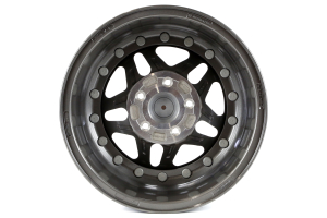 Hutchinson Rock Monster Beadlock Wheel Argent w/Black Caps 17x8.5 5x5 - JT/JL/JK