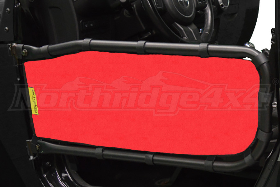 Dirty Dog 4x4 Olympic Front Tube Door Screen, Red (Part Number:J2TS07OYRD)