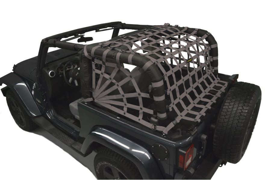 Dirty Dog 4x4 Spider Netting Rear Grey (Part Number:J2NN07RSGY)