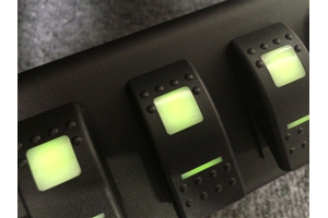 sPOD 6 Switch System With Dual Lit LED Switches Green - JK 2009+
