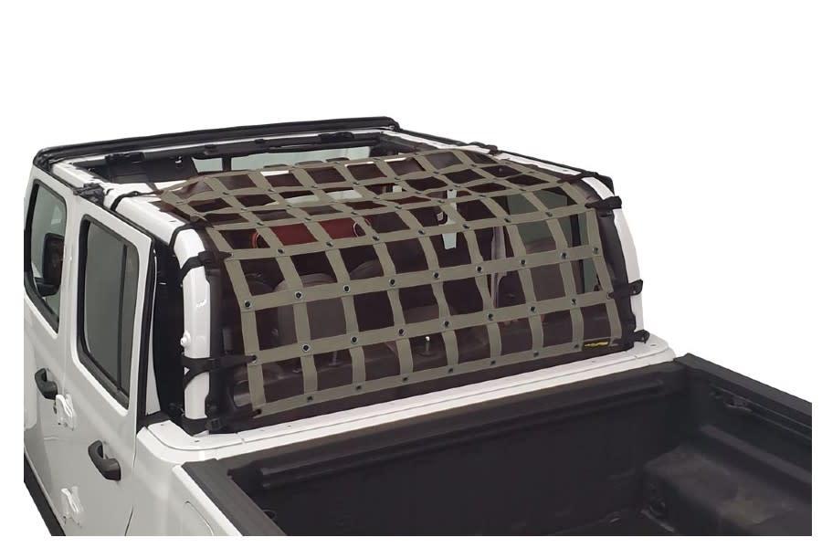 Dirty Dog 4x4 Rear Seat Netting, Grey - JT