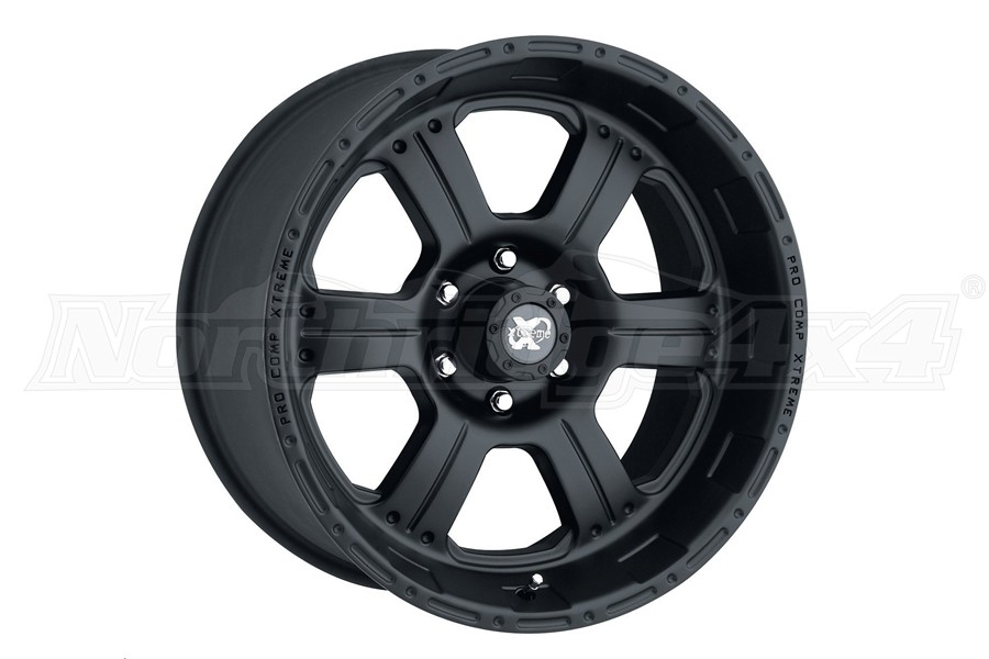 Pro Comp Xtreme Alloys Series Flat Black Aluminum Wheel 16x8 5x127 - JL/JK