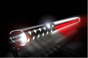 AeroLidz 52in Dual Row 'Thin Red Line American Flag' Light Bar Insert